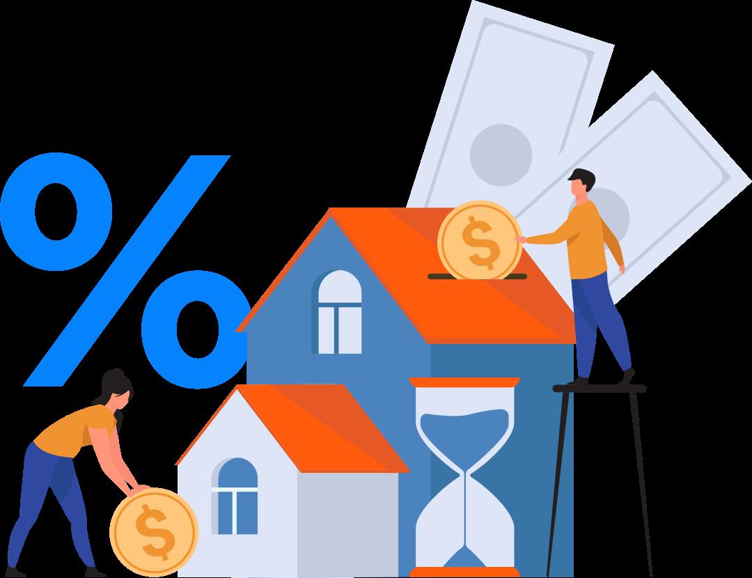 Couple saving money to buy a house